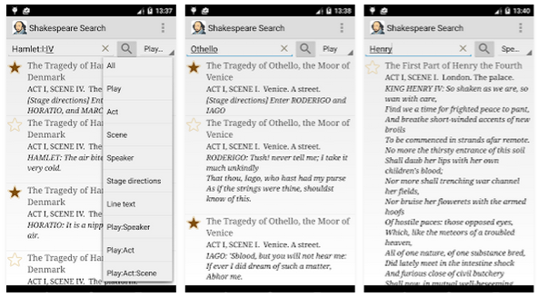 Shakespeare Search by movin'App