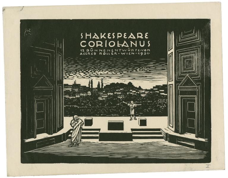 Folger Digital Image Collection: Shakespeare Coriolanus : 12 Buhnenentwurfe von Alfred Roller. 1912. Roller, Alfred, 1864-1935.